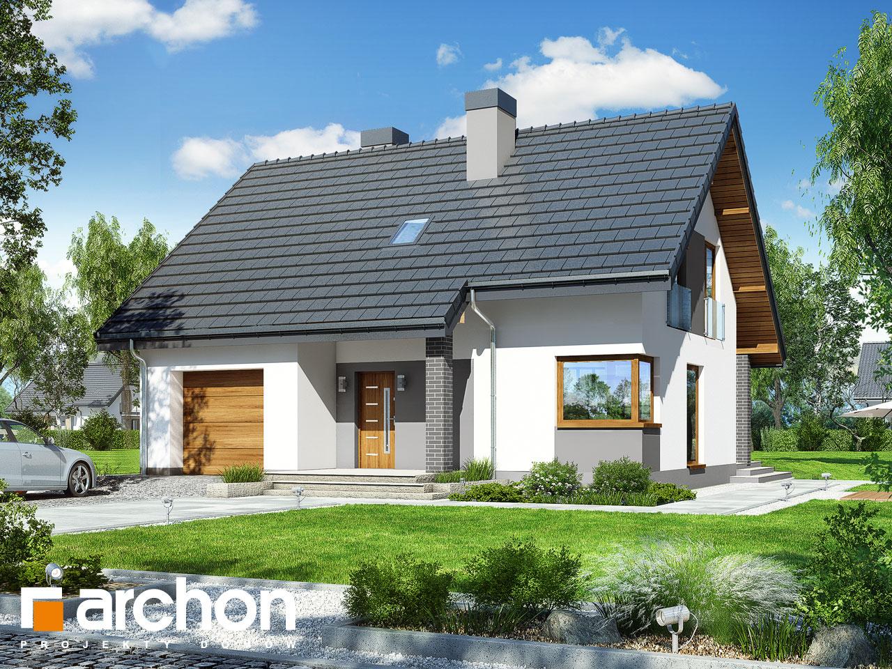 Проект будинку ARCHON+ Будинок в яблонках 9 стилізація 3