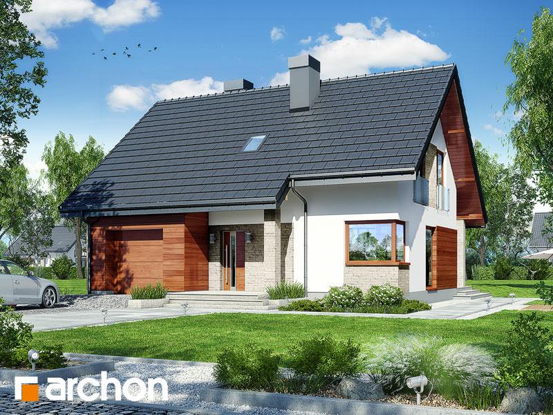 Проект будинку ARCHON+ Будинок в яблонках 9 Вид 1