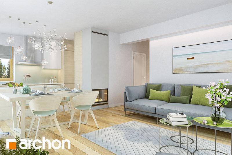 Проект будинку ARCHON+ Будинок в яблонках 9 денна зона (візуалізація 1 від 2)
