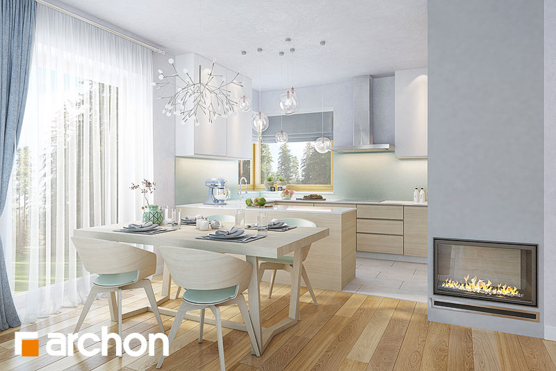 Проект будинку ARCHON+ Будинок в яблонках 9 денна зона (візуалізація 1 від 4)