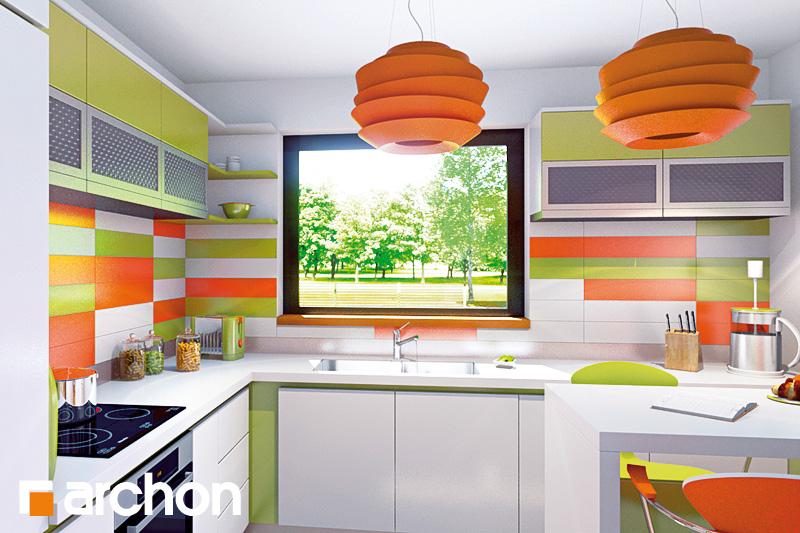 Проект будинку ARCHON+ Будинок Мініатюрка 2 (Н) вер.2 візуалізація кухні 1 від 1