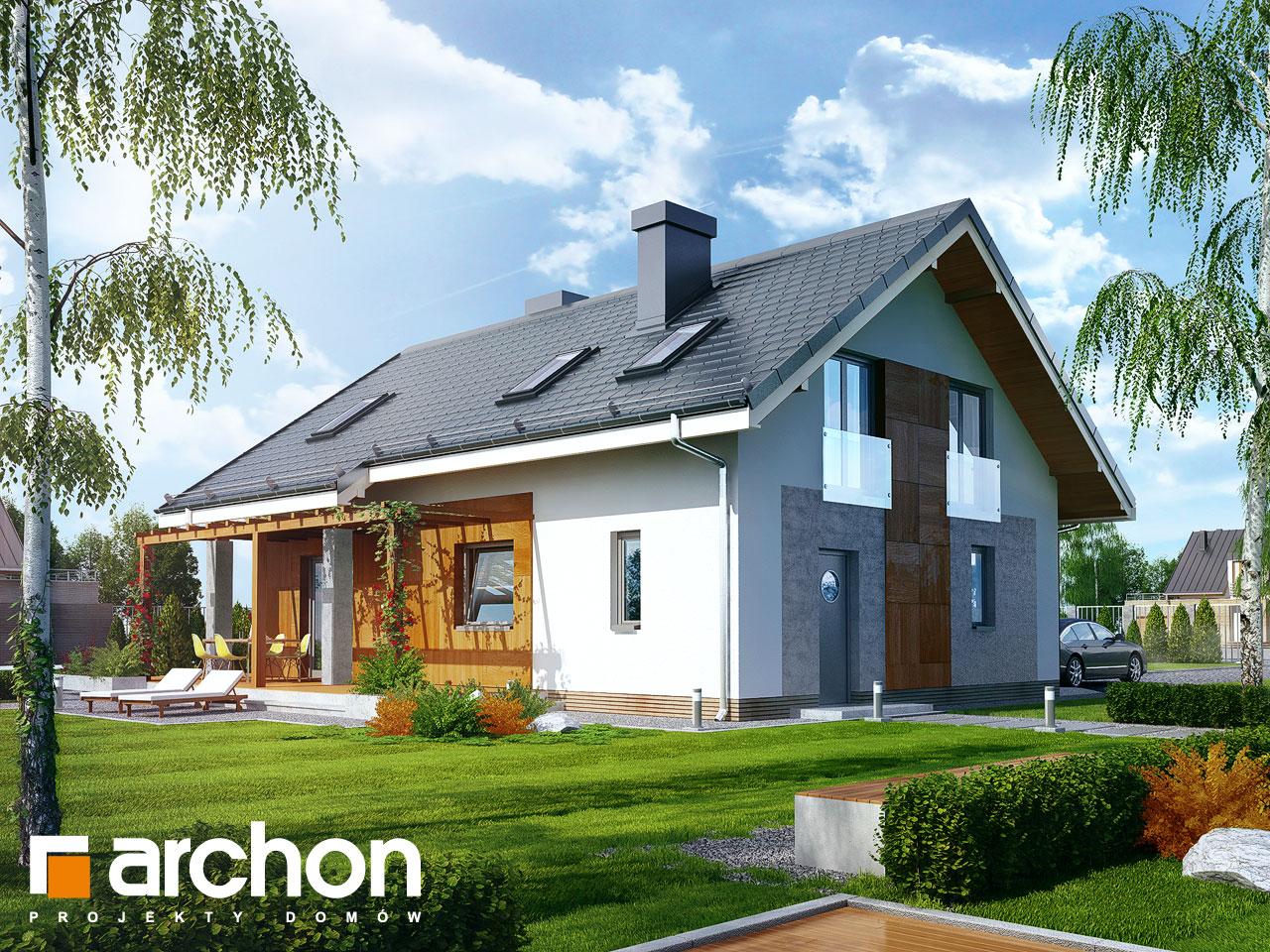 Проект будинку ARCHON+ Будинок Мініатюрка 2 (Н) Вид 2