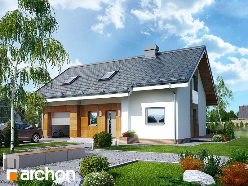 Проект будинку ARCHON+ Будинок Мініатюрка 2 (Н) Вид 1