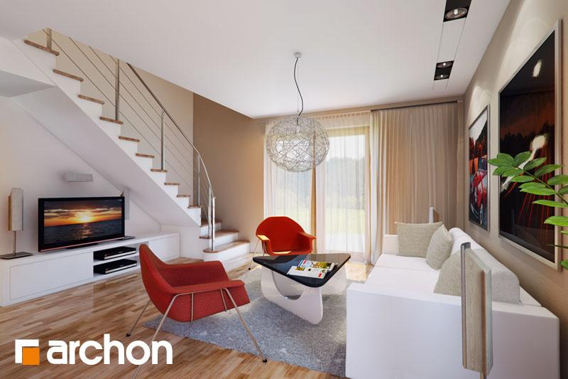 Проект будинку ARCHON+ Будинок Мініатюрка 2 (Н) вер.2 денна зона (візуалізація 1 від 1)