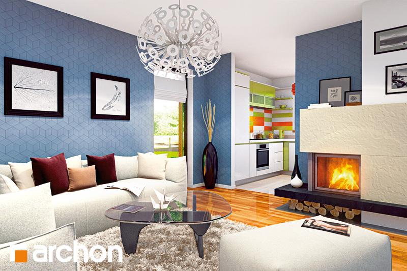 Проект будинку ARCHON+ Будинок Мініатюрка 2 (Н) вер.2 денна зона (візуалізація 2 від 1)
