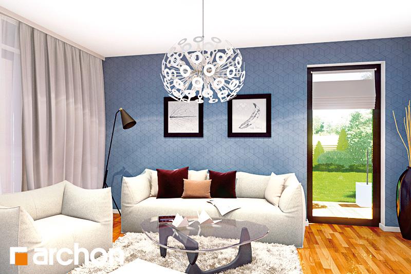 Проект будинку ARCHON+ Будинок Мініатюрка 2 (Н) вер.2 денна зона (візуалізація 2 від 3)