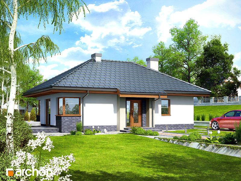Проект будинку ARCHON+ Будинок в маївках вер. 2 стилізація 5