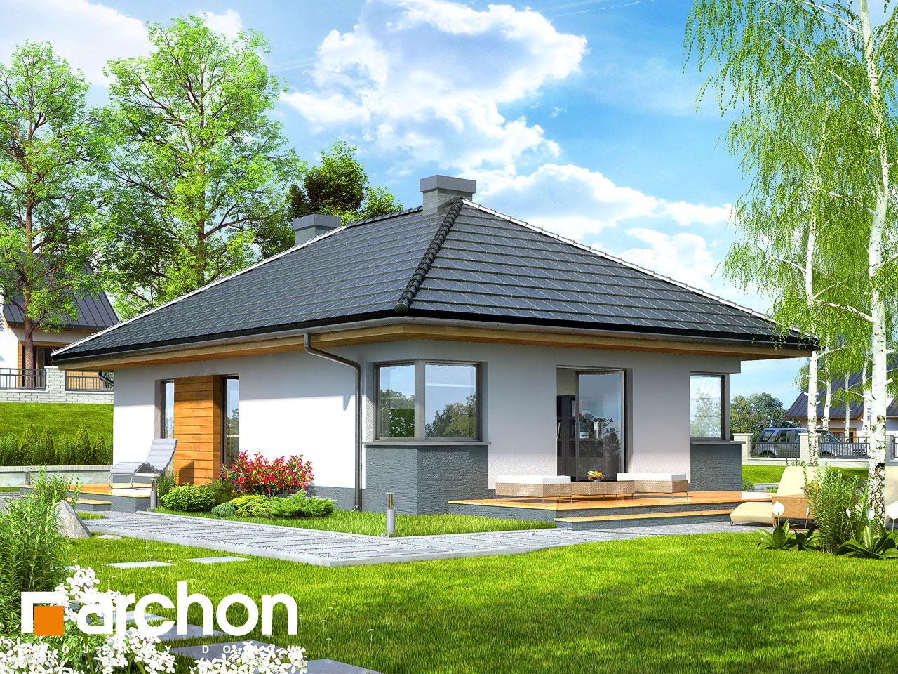 Проект будинку ARCHON+ Будинок в маївках вер. 2 Вид 2