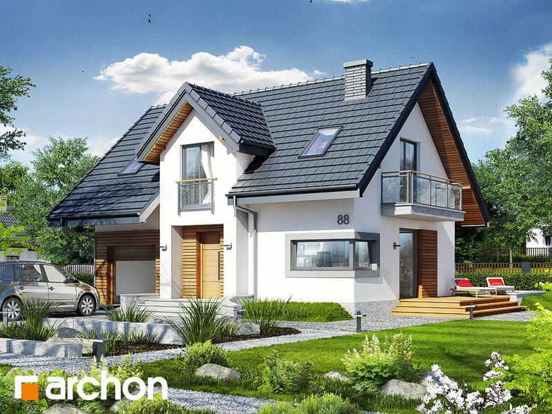 Проект будинку ARCHON+ Будинок в портулаках ver.3 стилізація 3