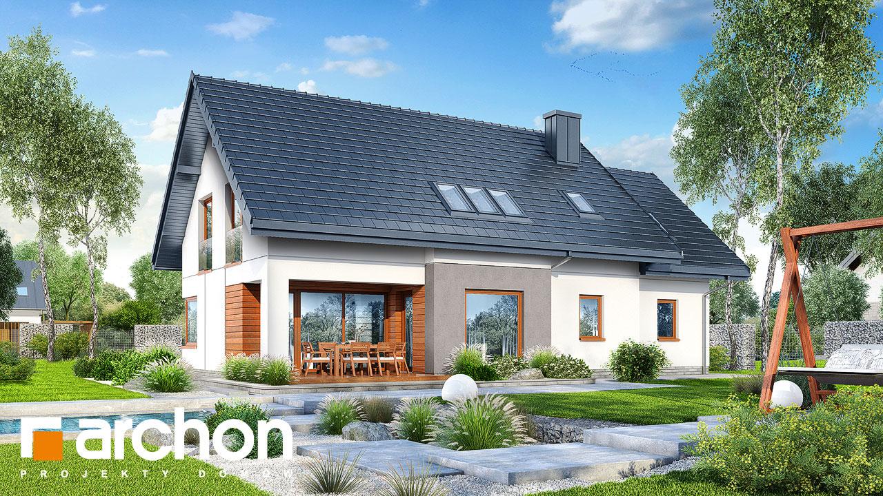 Проект будинку ARCHON+ Будинок в афасках додаткова візуалізація