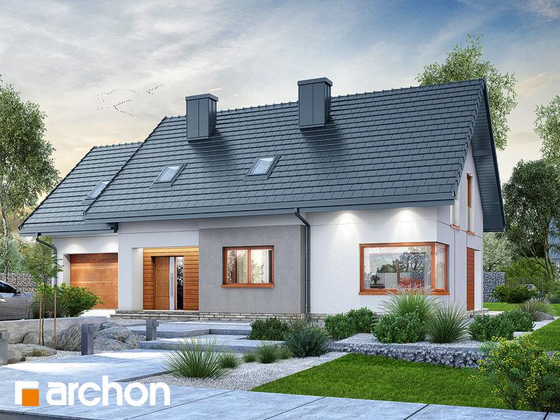 Проект дома ARCHON+ Дом в афасках Вид 1