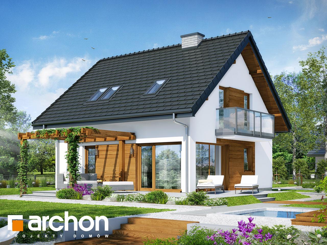 Проект будинку ARCHON+ Будинок в брусниці 4 Вид 2