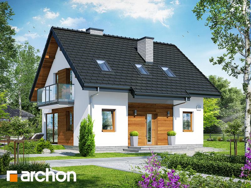Проект будинку ARCHON+ Будинок в брусниці 4 Вид 1