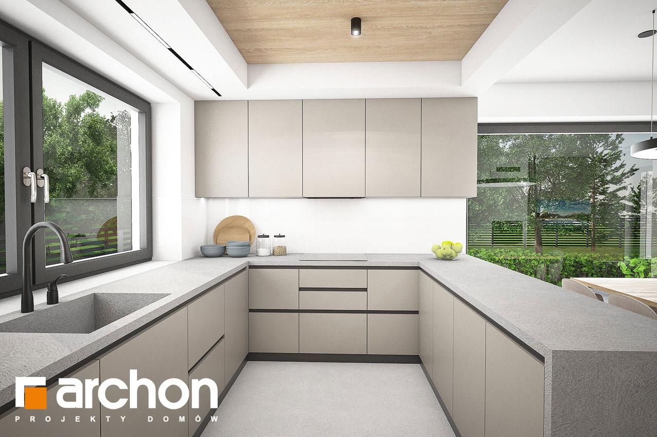Проект будинку ARCHON+ Будинок в люцерні 11 візуалізація кухні 1 від 1