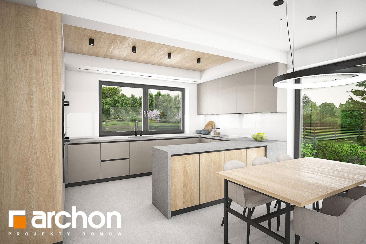 Проект будинку ARCHON+ Будинок в люцерні 11 візуалізація кухні 1 від 2