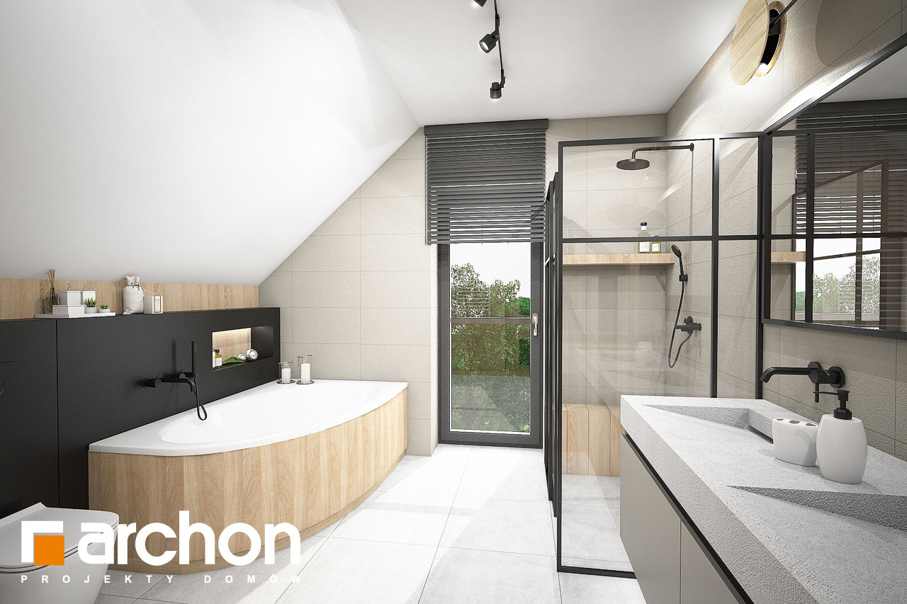 Проект будинку ARCHON+ Будинок в люцерні 11 візуалізація ванни (візуалізація 3 від 1)