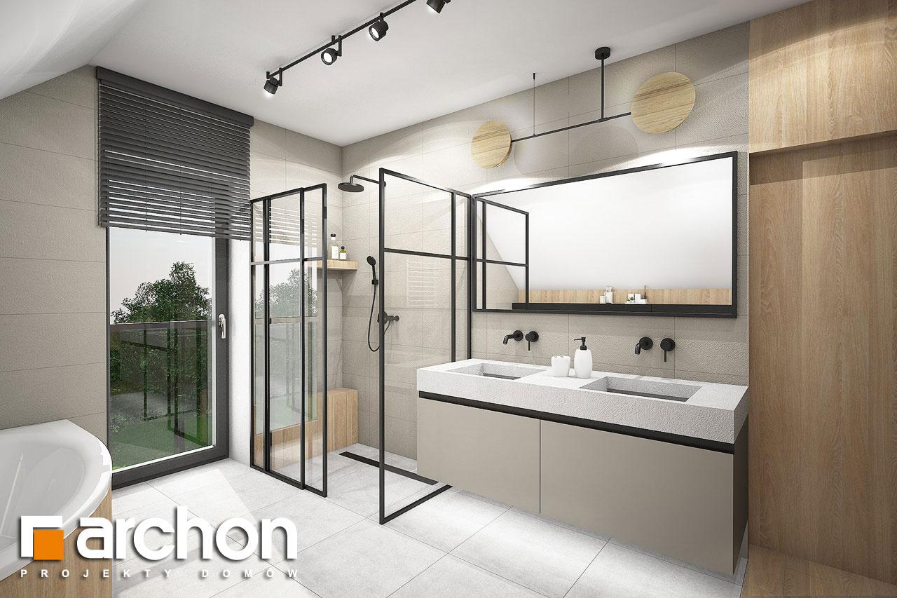 Проект будинку ARCHON+ Будинок в люцерні 11 візуалізація ванни (візуалізація 3 від 2)