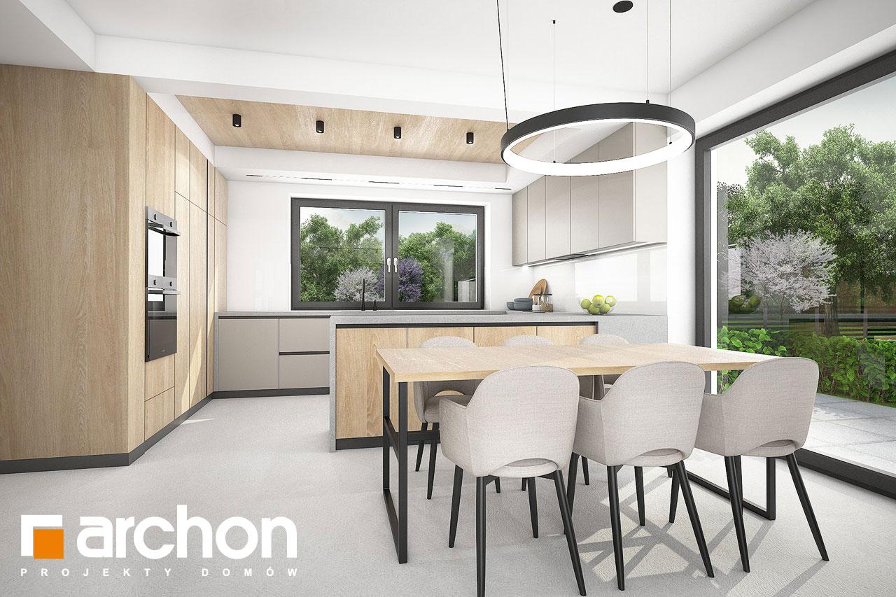 Проект будинку ARCHON+ Будинок в люцерні 11 денна зона (візуалізація 1 від 2)