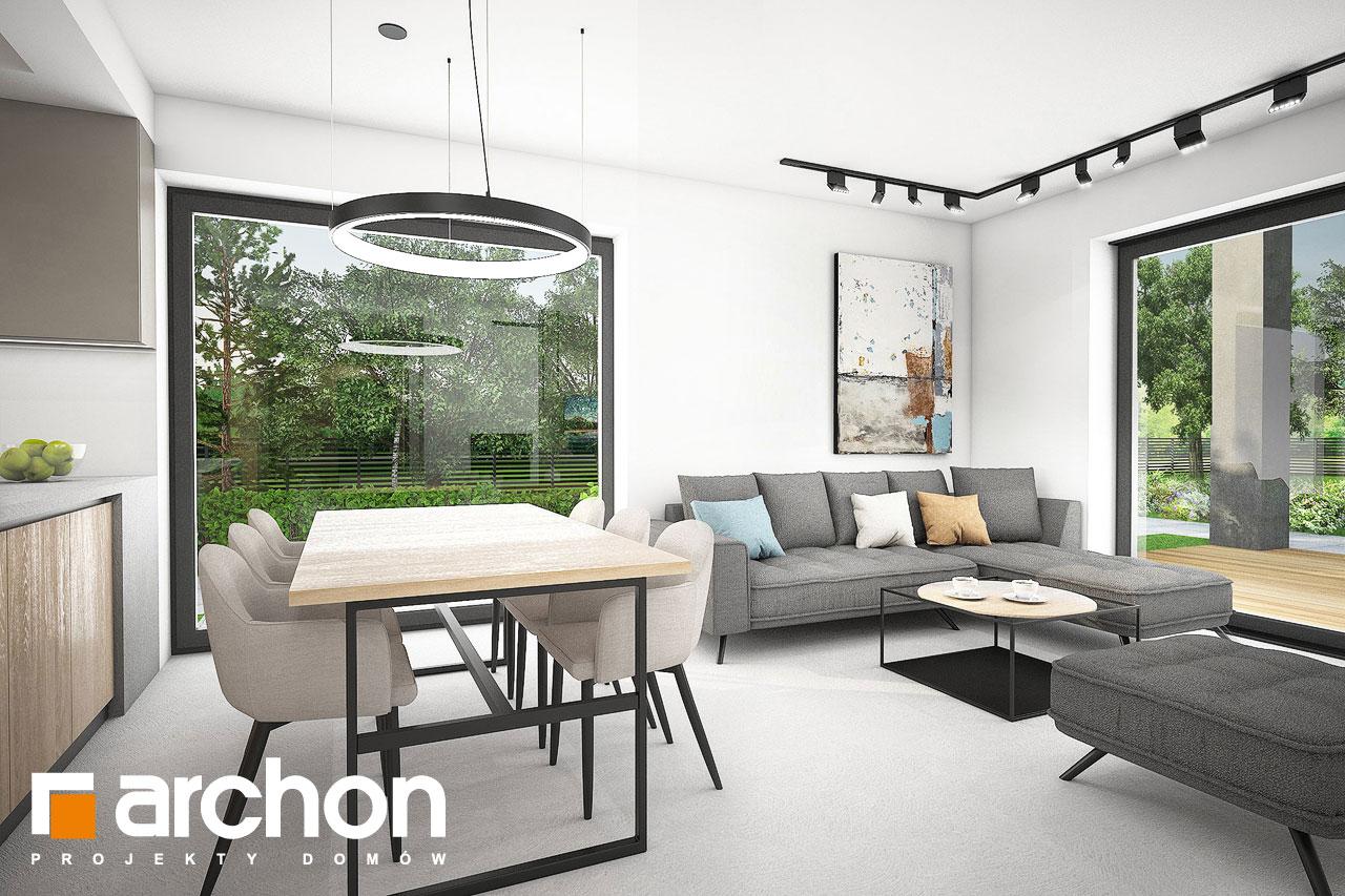 Проект будинку ARCHON+ Будинок в люцерні 11 денна зона (візуалізація 1 від 3)