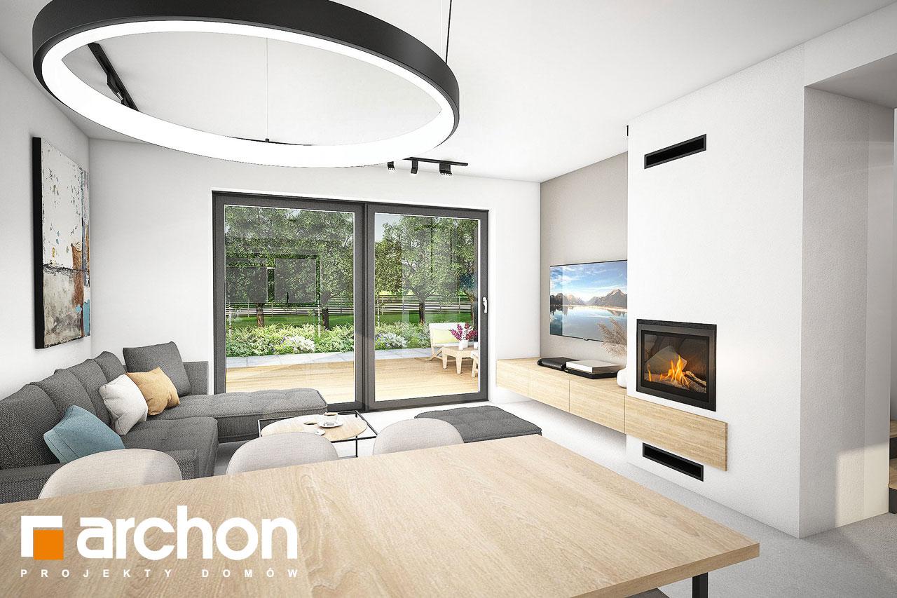 Проект будинку ARCHON+ Будинок в люцерні 11 денна зона (візуалізація 1 від 4)