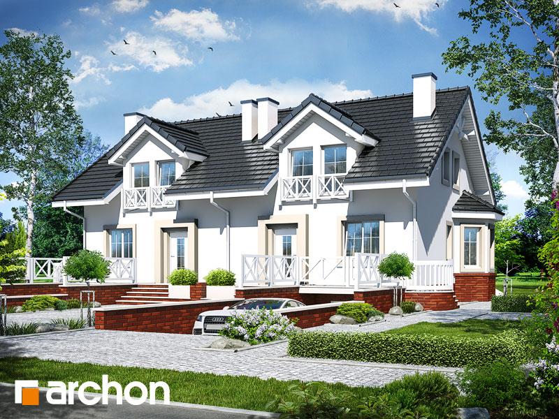 Проект будинку ARCHON+ Будинок в ясменнику вер.2 візуалізація усіх сегментів