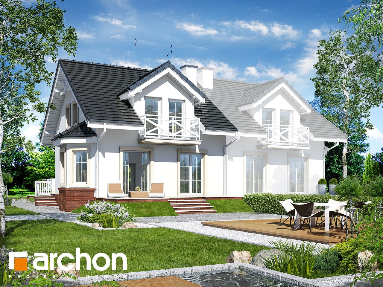 Проект будинку ARCHON+ Будинок в ясменнику вер.2 Вид 2