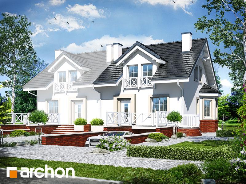 Проект будинку ARCHON+ Будинок в ясменнику вер.2 Вид 1