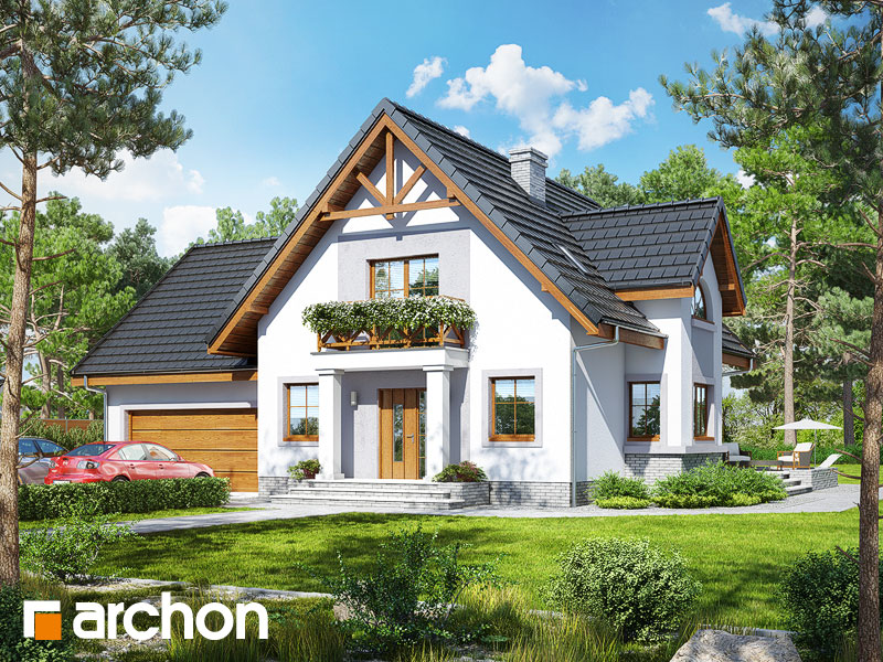 Проект будинку ARCHON+ Будинок в абрикосах 2 (Г2) Вид 1
