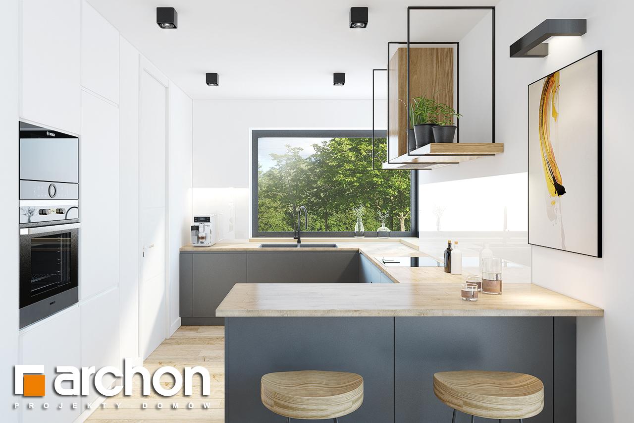 Проект будинку ARCHON+ Будинок в ренклодах 2 (Г2) візуалізація кухні 1 від 1