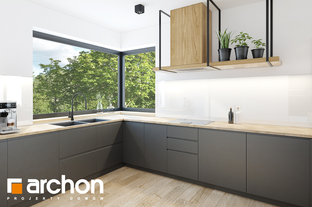 Проект дома ARCHON+  Дом в ренклодах 2 (Г2) визуализация кухни 1 вид 2