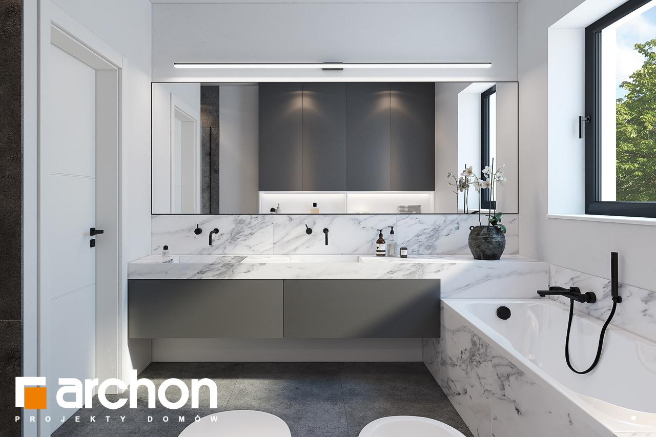 Проект будинку ARCHON+ Будинок в ренклодах 2 (Г2) візуалізація ванни (візуалізація 3 від 2)