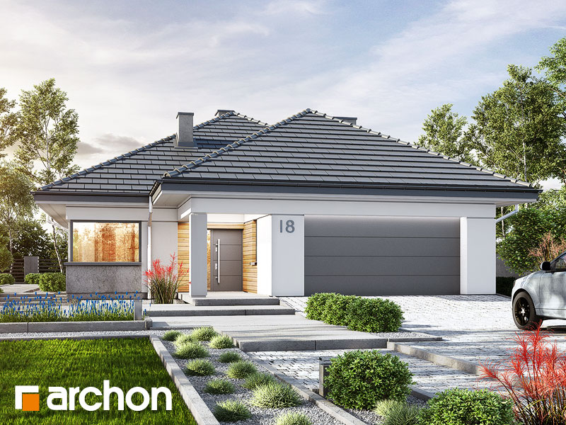 Проект будинку ARCHON+ Будинок в ренклодах 2 (Г2) Вид 1