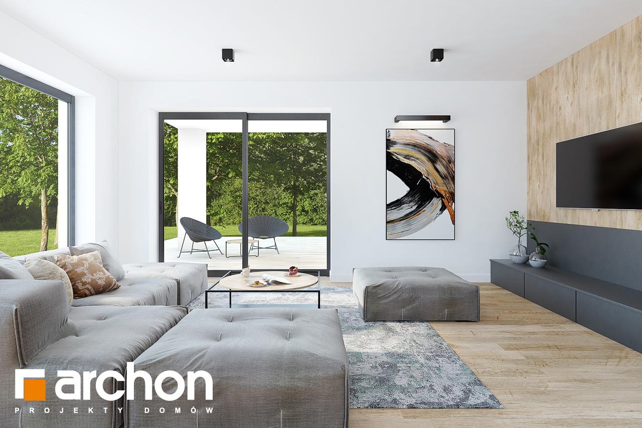 Проект будинку ARCHON+ Будинок в ренклодах 2 (Г2) денна зона (візуалізація 1 від 3)