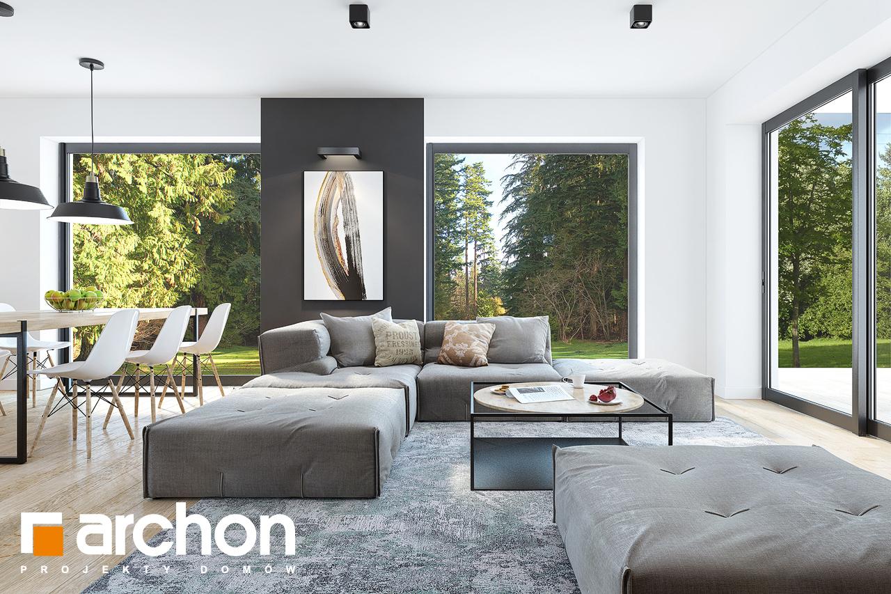 Проект дома ARCHON+  Дом в ренклодах 2 (Г2) дневная зона (визуализация 1 вид 1)