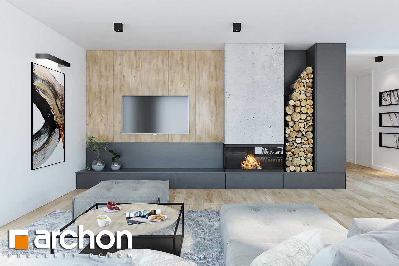 Проект дома ARCHON+  Дом в ренклодах 2 (Г2) дневная зона (визуализация 1 вид 2)