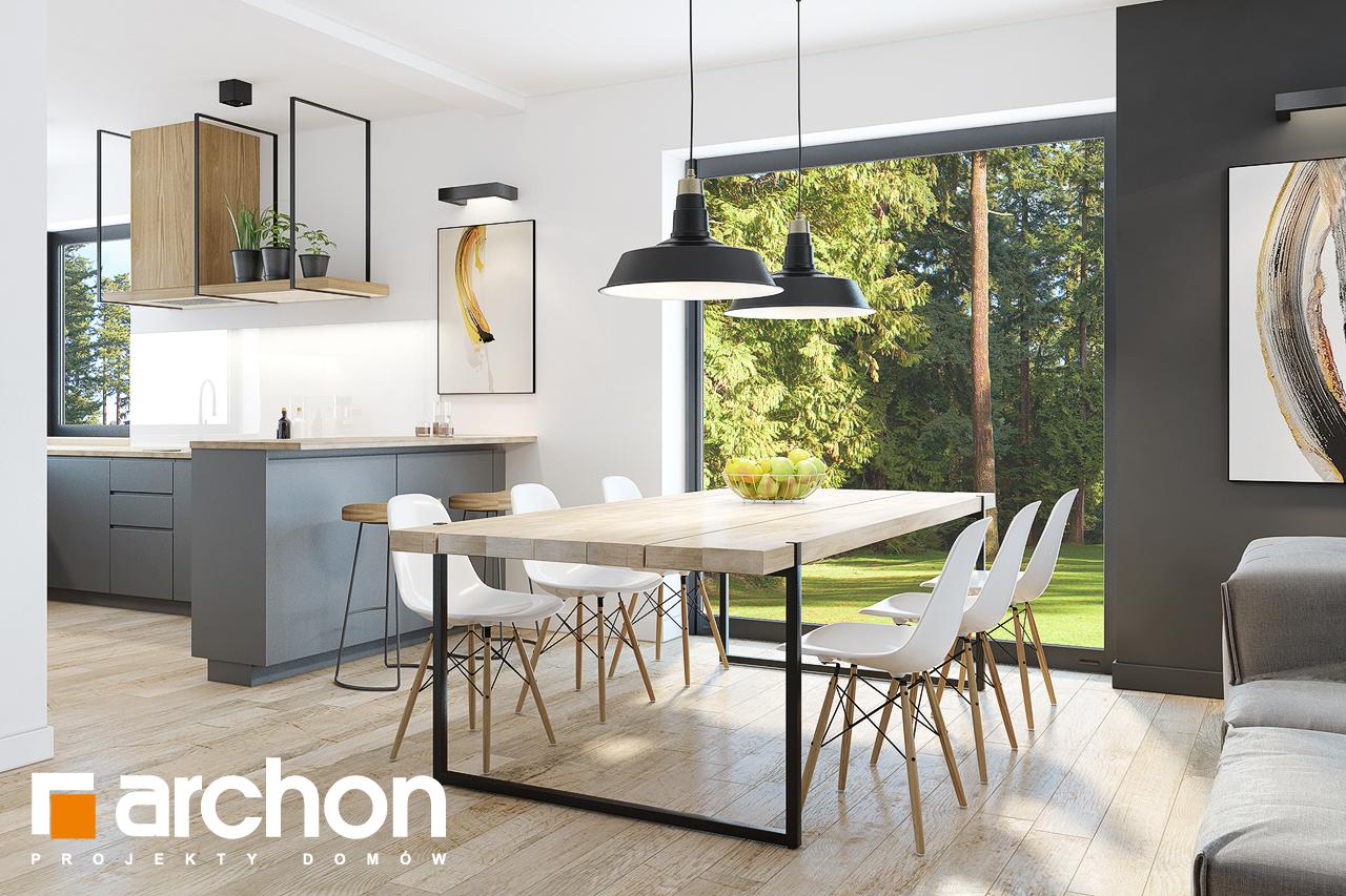 Проект дома ARCHON+  Дом в ренклодах 2 (Г2) дневная зона (визуализация 1 вид 4)