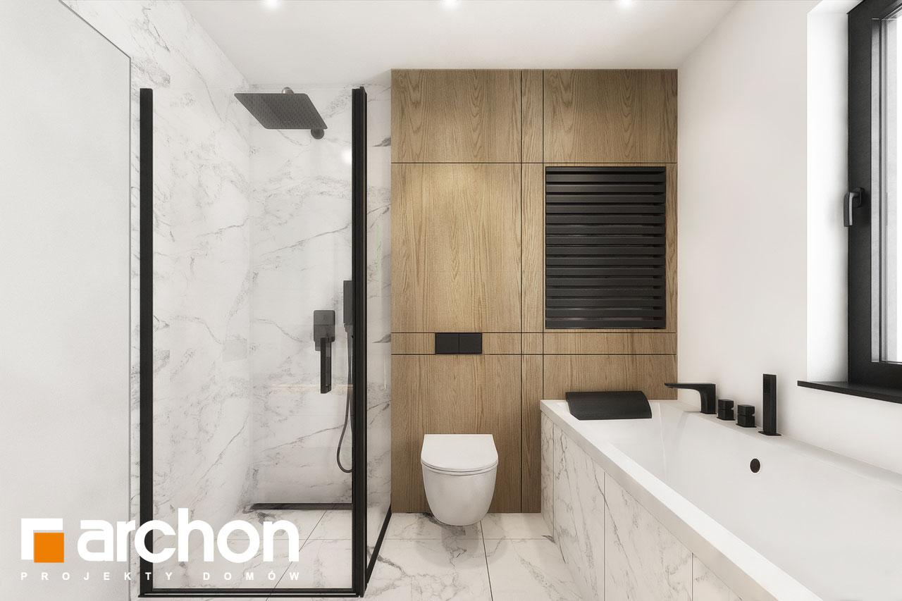 Проект будинку ARCHON+ Будинок в мажанках 2 візуалізація ванни (візуалізація 3 від 2)