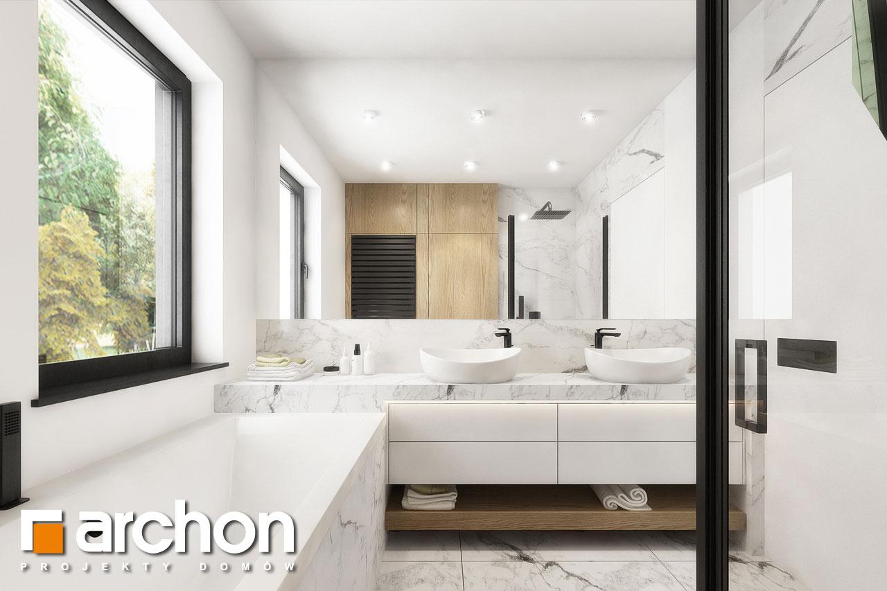 Проект будинку ARCHON+ Будинок в мажанках 2 візуалізація ванни (візуалізація 3 від 3)