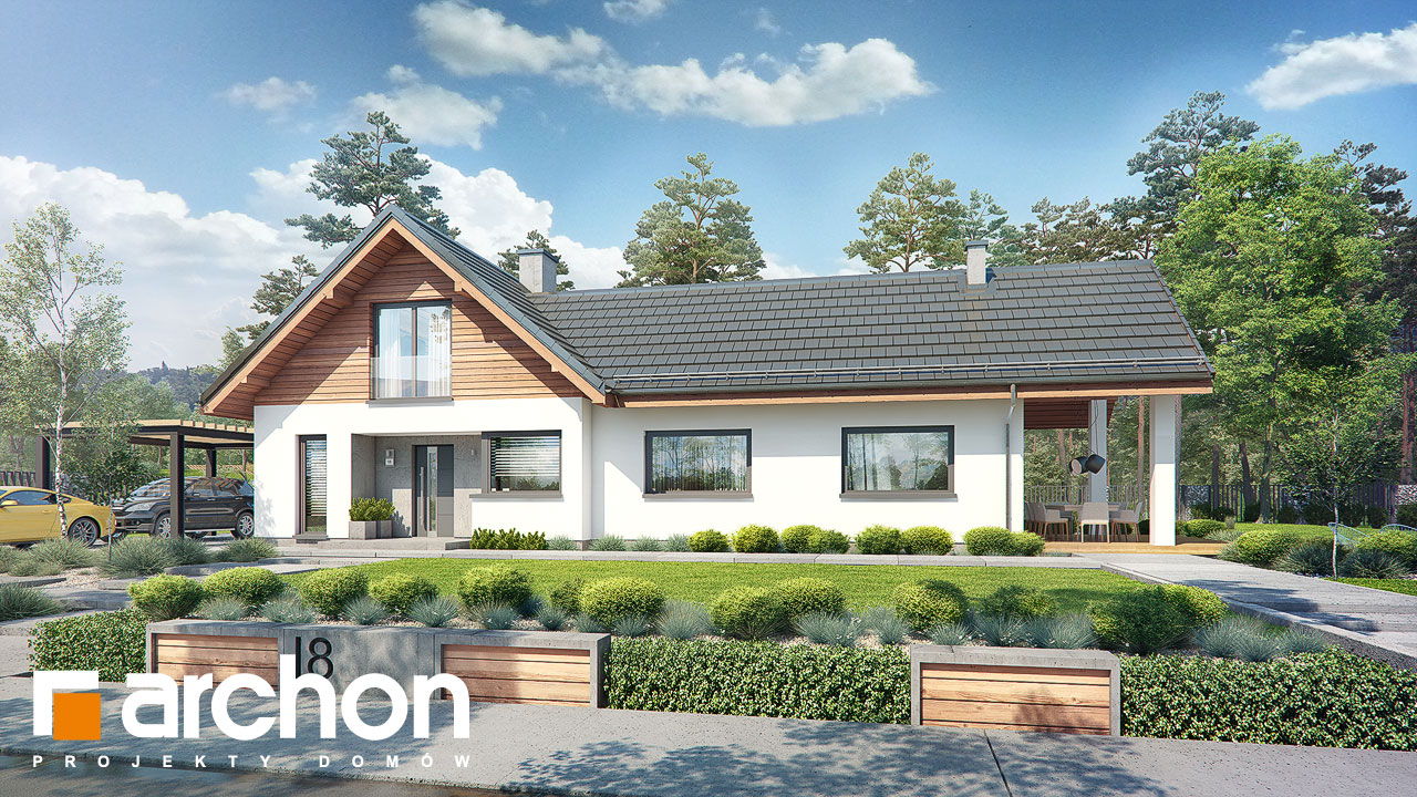 Проект будинку ARCHON+ Будинок в мажанках 2 Вид 2