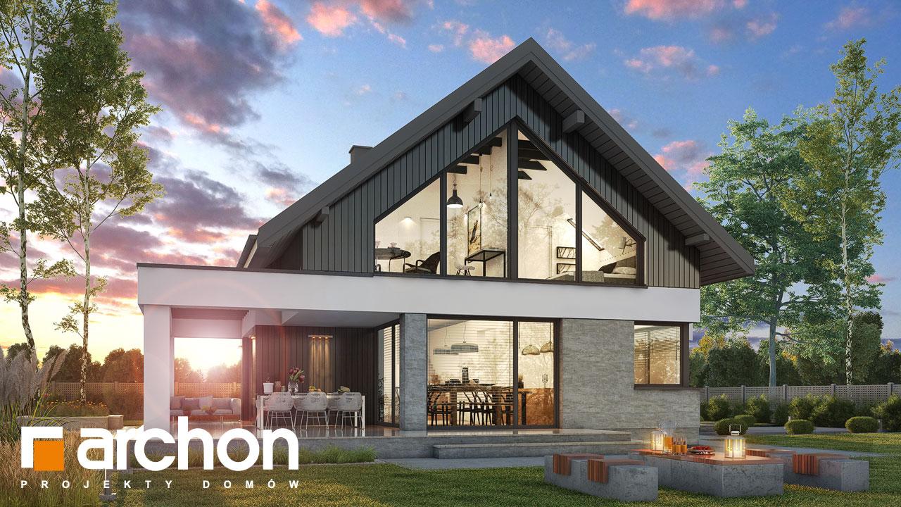 Проект будинку ARCHON+ Будинок в дабеціях 3 (Г2) додаткова візуалізація