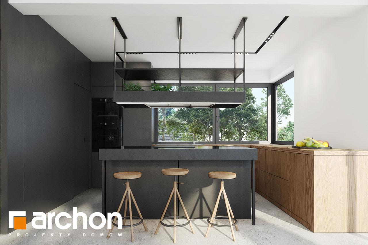 Проект будинку ARCHON+ Будинок в дабеціях 3 (Г2) візуалізація кухні 1 від 1