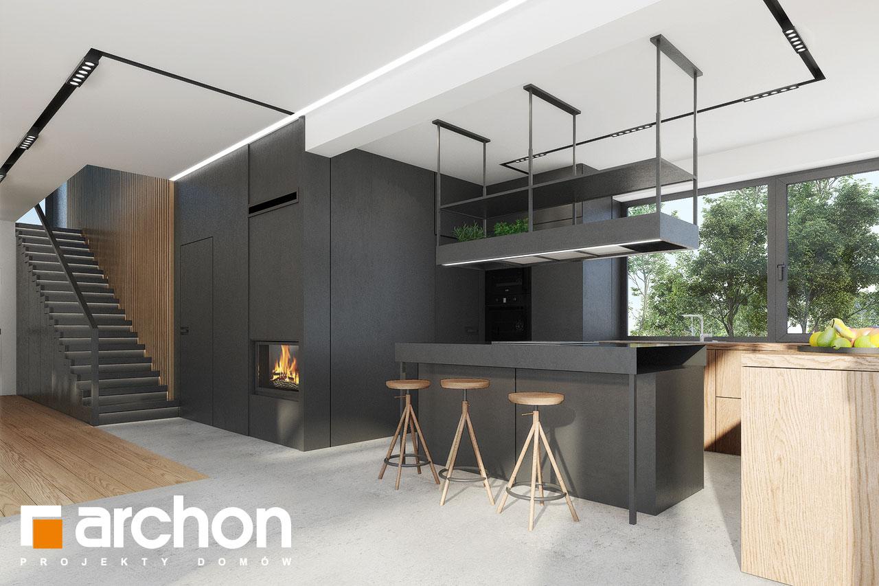 Проект будинку ARCHON+ Будинок в дабеціях 3 (Г2) візуалізація кухні 1 від 2