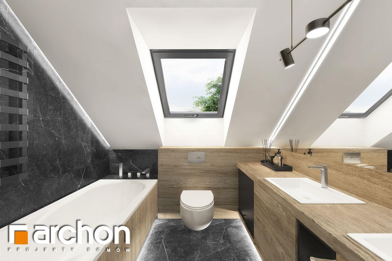 Проект будинку ARCHON+ Будинок в дабеціях 3 (Г2) візуалізація ванни (візуалізація 3 від 1)