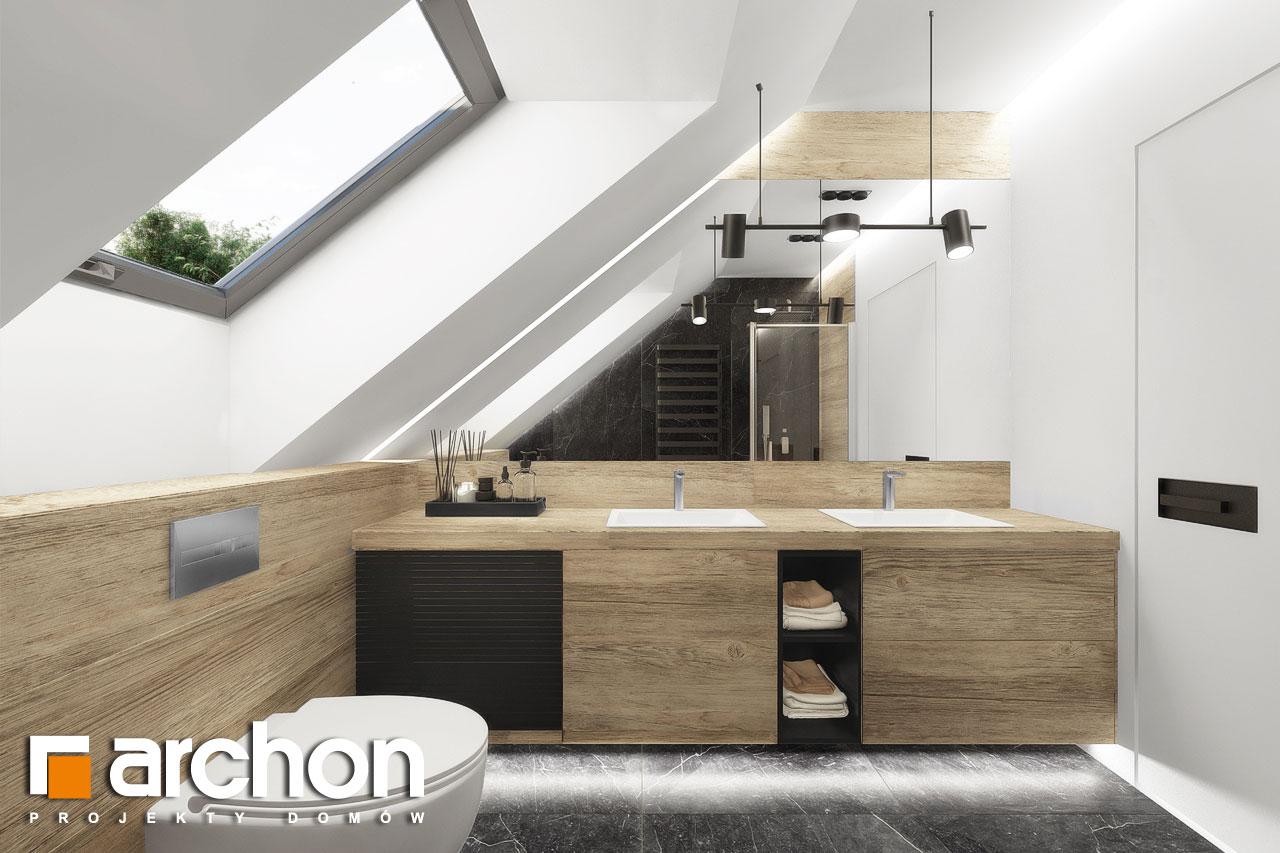 Проект будинку ARCHON+ Будинок в дабеціях 3 (Г2) візуалізація ванни (візуалізація 3 від 2)