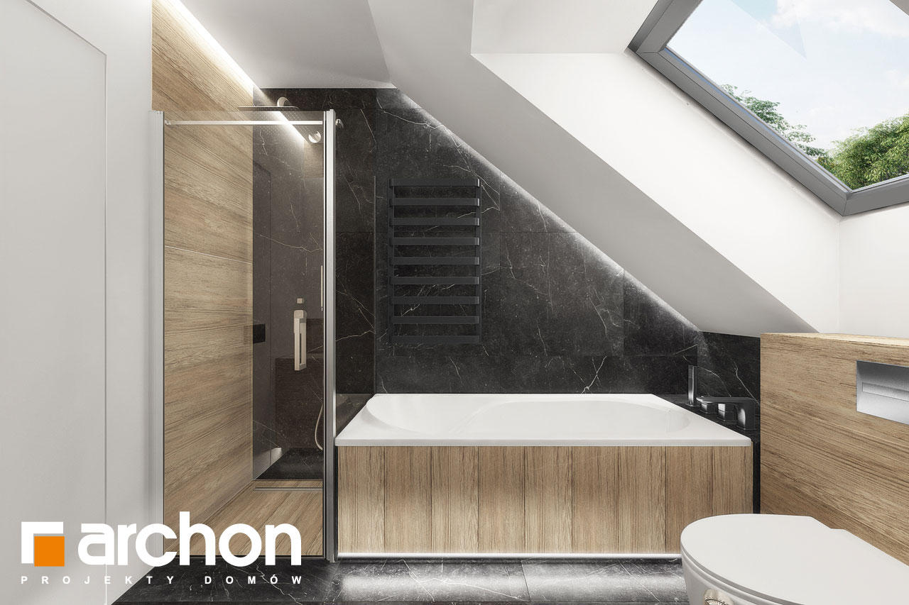 Проект будинку ARCHON+ Будинок в дабеціях 3 (Г2) візуалізація ванни (візуалізація 3 від 3)