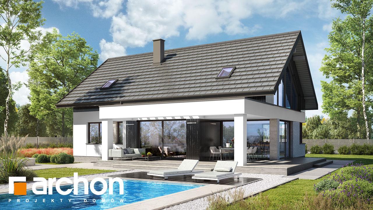 Проект будинку ARCHON+ Будинок в дабеціях 3 (Г2) Вид 2