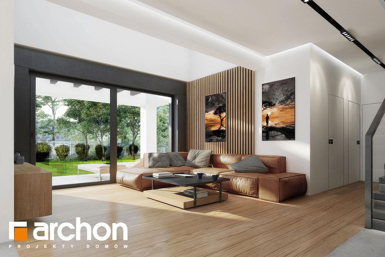 Проект будинку ARCHON+ Будинок в дабеціях 3 (Г2) денна зона (візуалізація 1 від 1)