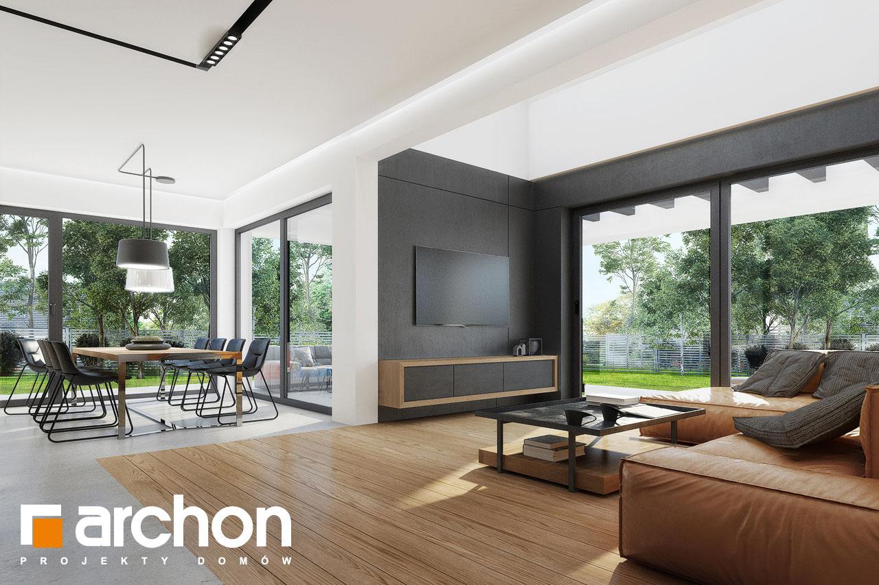 Проект будинку ARCHON+ Будинок в дабеціях 3 (Г2) денна зона (візуалізація 1 від 2)