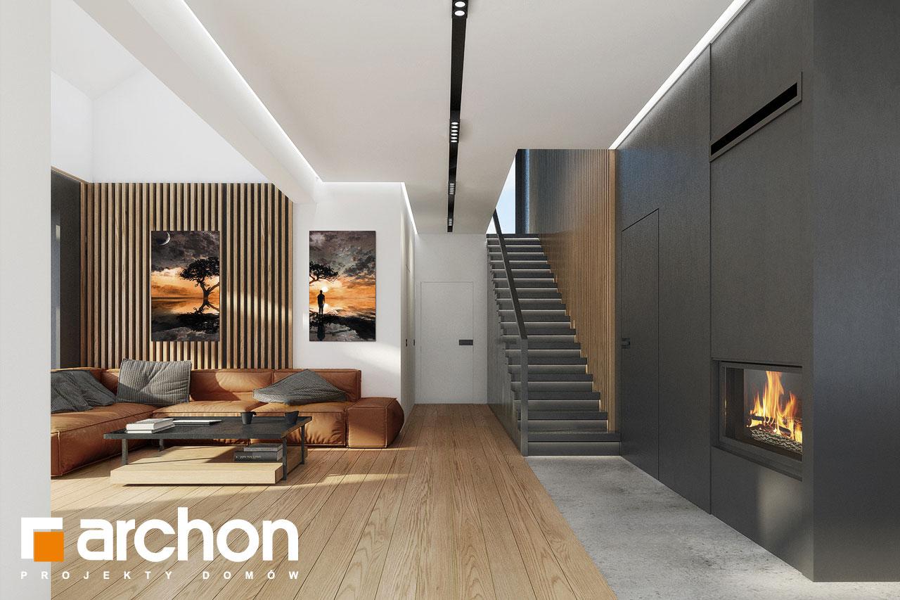 Проект будинку ARCHON+ Будинок в дабеціях 3 (Г2) денна зона (візуалізація 1 від 3)