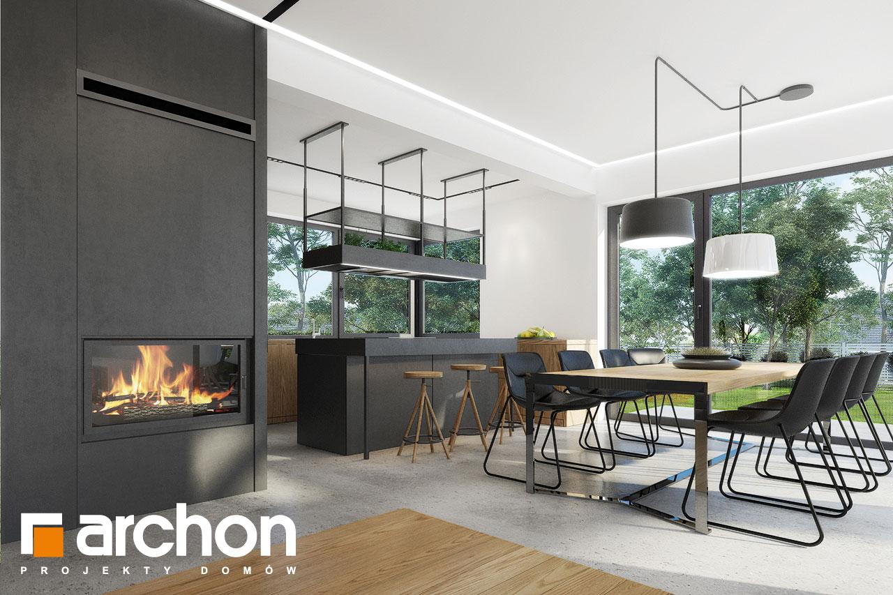 Проект будинку ARCHON+ Будинок в дабеціях 3 (Г2) денна зона (візуалізація 1 від 8)